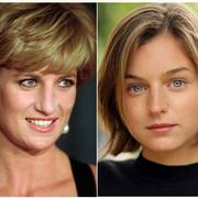 This combination photo shows Diana, Princess of Wales, at the United Cerebral Palsy's annual dinner in New York on Dec. 11, 1995, left, and actress Emma Corrin, who has been cast to portray Lady Diana Spencer in season four of the Netflix series