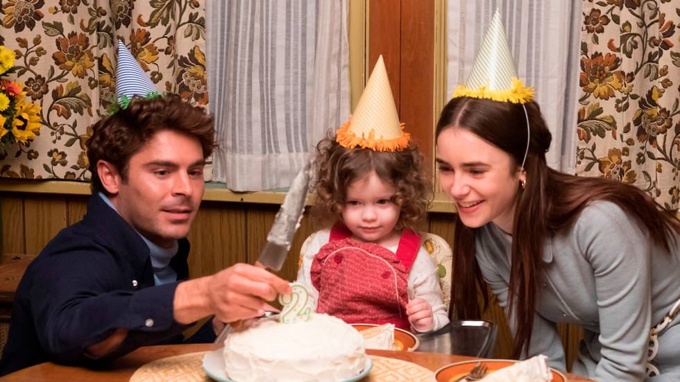 Zac Efron og Lily Collins spiller hovedrollene i «Extremely Wicked, Shockingly Evil and Vile,» om seriemorderen Ted Bundy.                       (Foto: Brian Douglas/Sundance Institute via AP)