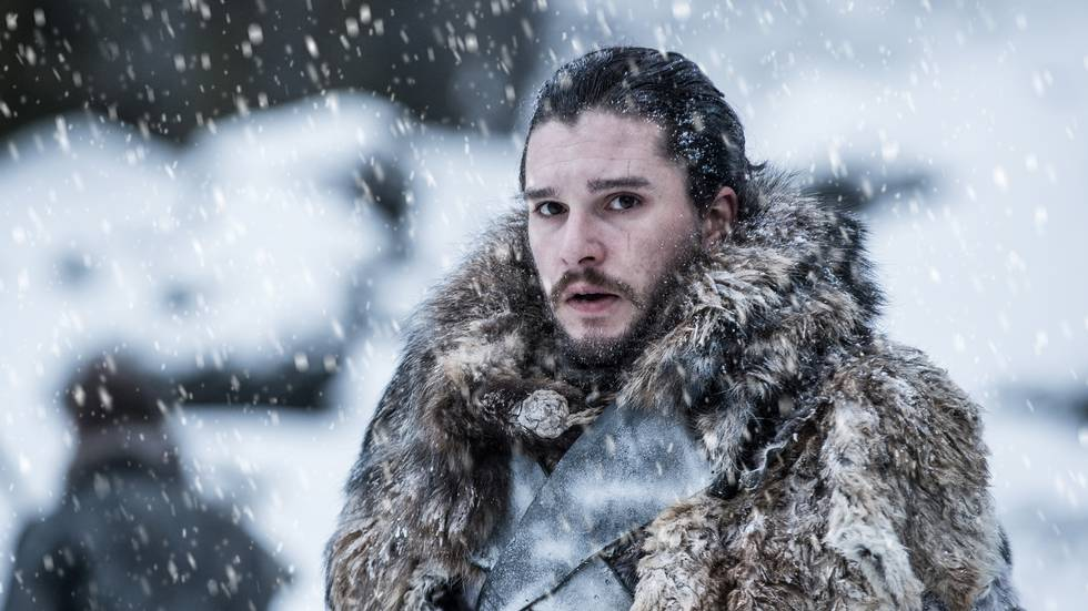 In this photo provided by HBO, Kit Harington portrays Jon Snow in a scene from the seventh season of HBO's