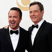 Actors Aaron Paul (L) and Bryan Cranston from AMC's series