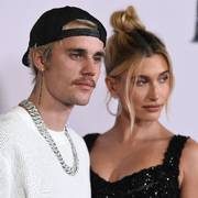 Justin Bieber and Hailey Baldwin arrive at the Los Angeles premiere of