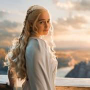 In this image released by HBO, Emilia Clarke portrays Daenerys Targaryen in a scene from