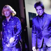 Actors Owen Wilson, left, and Ben Stiller walk the runway in character at the world premiere of