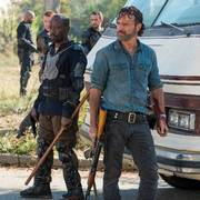 In this image released by AMC, Lennie James portrays Morgan Jones, left, and Andrew Lincoln portrays Rick Grimes in a scene from