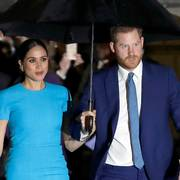 FILE - Prince Harry and Meghan, the Duke and Duchess of Sussex arrive at the annual Endeavour Fund Awards in London on March 5, 2020. The Duchess of Sussex has revealed that she had a miscarriage in July. Meghan described the experience in an opinion piece in the New York Times on Wednesday. She wrote: